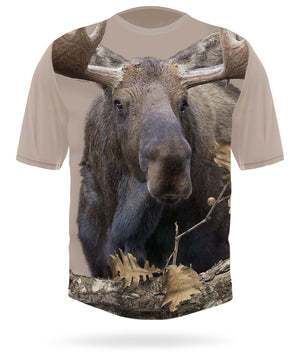 Moose T-shirt Short Sleeve - by HILLMAN® hunting gear