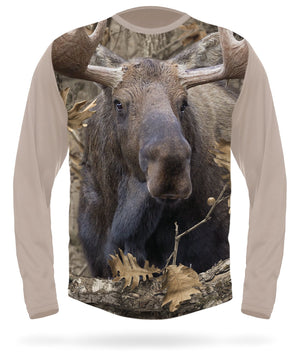 Moose T-shirt Long Sleeve Camo - HILLMAN® hunting gear