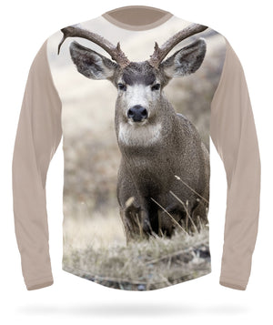 Hillman - Mule deer T-shirt long sleeve - Field Scene