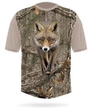 Red fox t-shirt short sleeve camo - HILLMAN® hunting gear