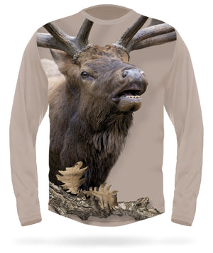 Bugling Elk T-shirt Long Sleeve - HILLMAN® hunting gear