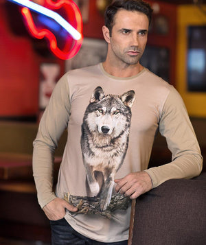 Man with Wolf Shirt