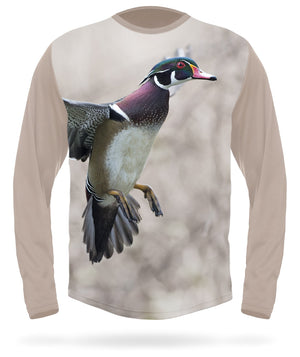 Hillman - Wood Duck 3D hunting long sleeve t-shirt