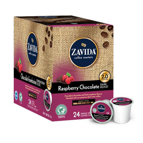 Zavida Raspberry Chocolate Dark Roast Single Serve Coffee