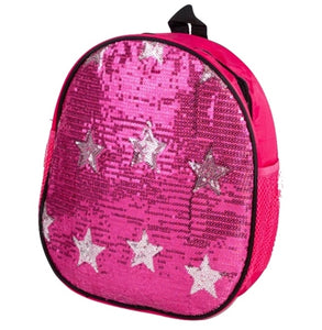 Sequin Star Backpack Bag - Fuchsia