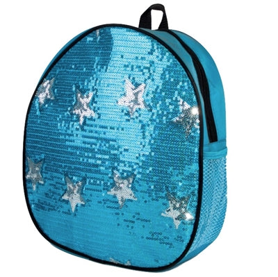Sequin Star Backpack Bag - Turquoise