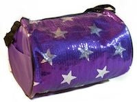 Sequin Star Duffle Bag - Purple