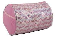 Chevron Duffle Bag - Pink