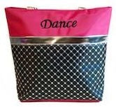 Sliver Sequin Dance Tote Bag - Fuchsia