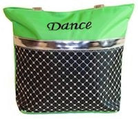 Sliver Sequin Dance Tote Bag - Lime