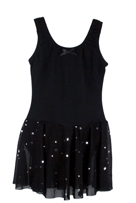 Star Mesh Tutu Dress - Black