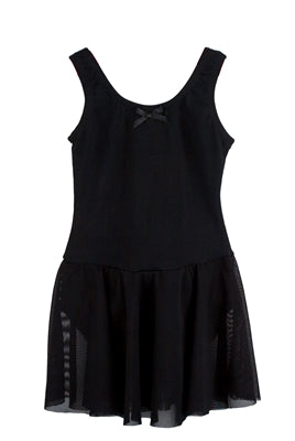 Basic Mesh Tutu Dress - Black