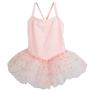 Camisole with Daisy Print Tulle Dress - Pink
