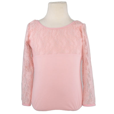 3/4 Sleeve Lace Leotard - Pink