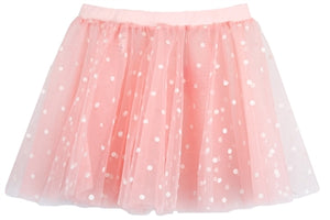 Polka Dot Pull Up Skirt - Pink