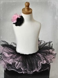 Curly Tutu One Size - Black/Pink