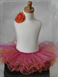 Curly Tutu One Size - Fuchsia/Orange
