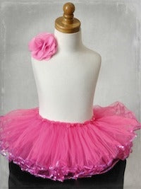 Sequin Tutu - Hot Pink