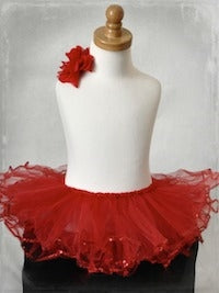 Sequin Tutu - Red