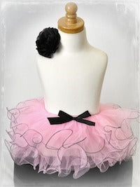 Two Tone Curly Tutu - Pink/Black