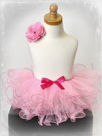 Two Tone Curly Tutu - Pink/Hot Pink