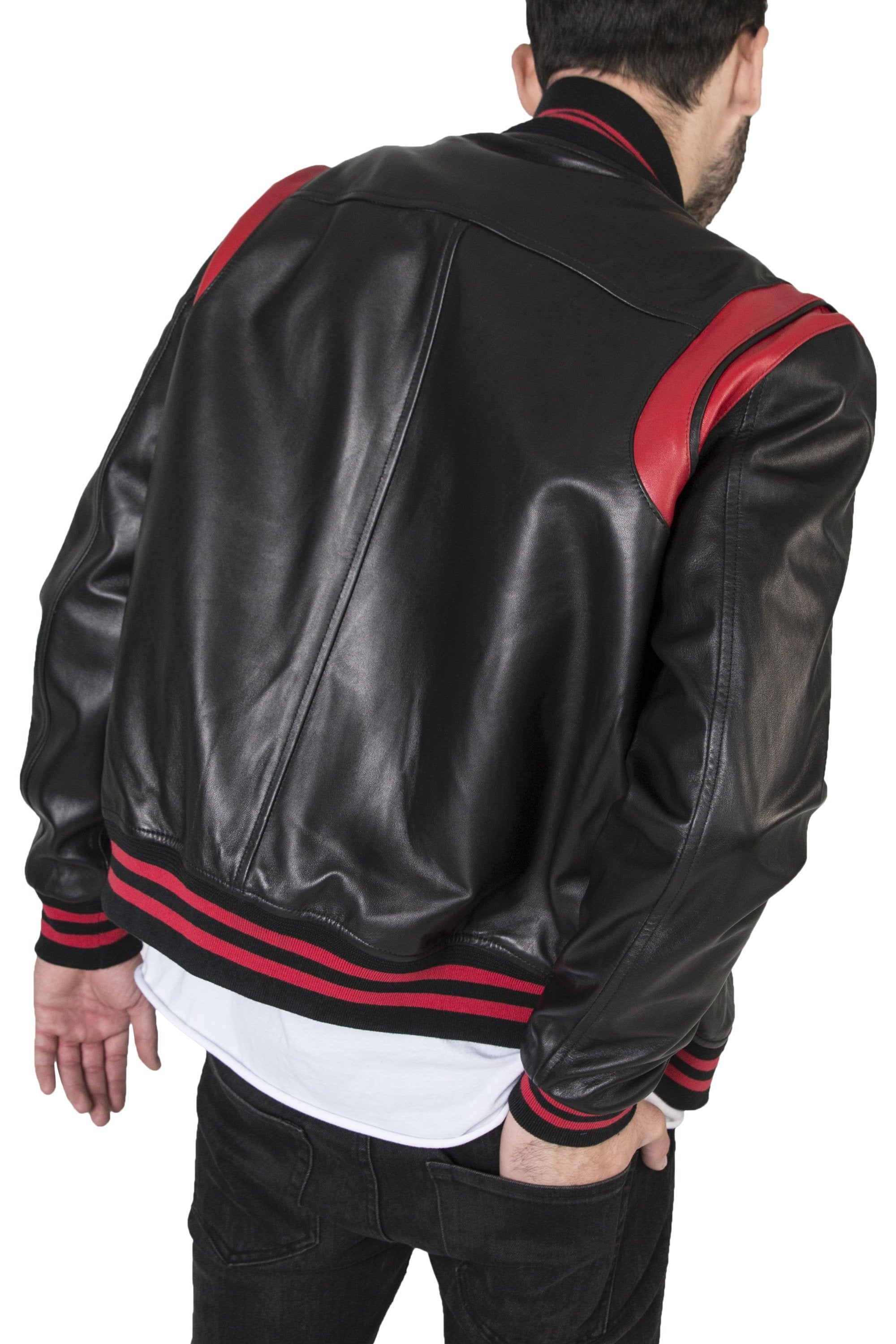 No 1 Varsity Black Red The Assembly Of Leather Shop Now Lac