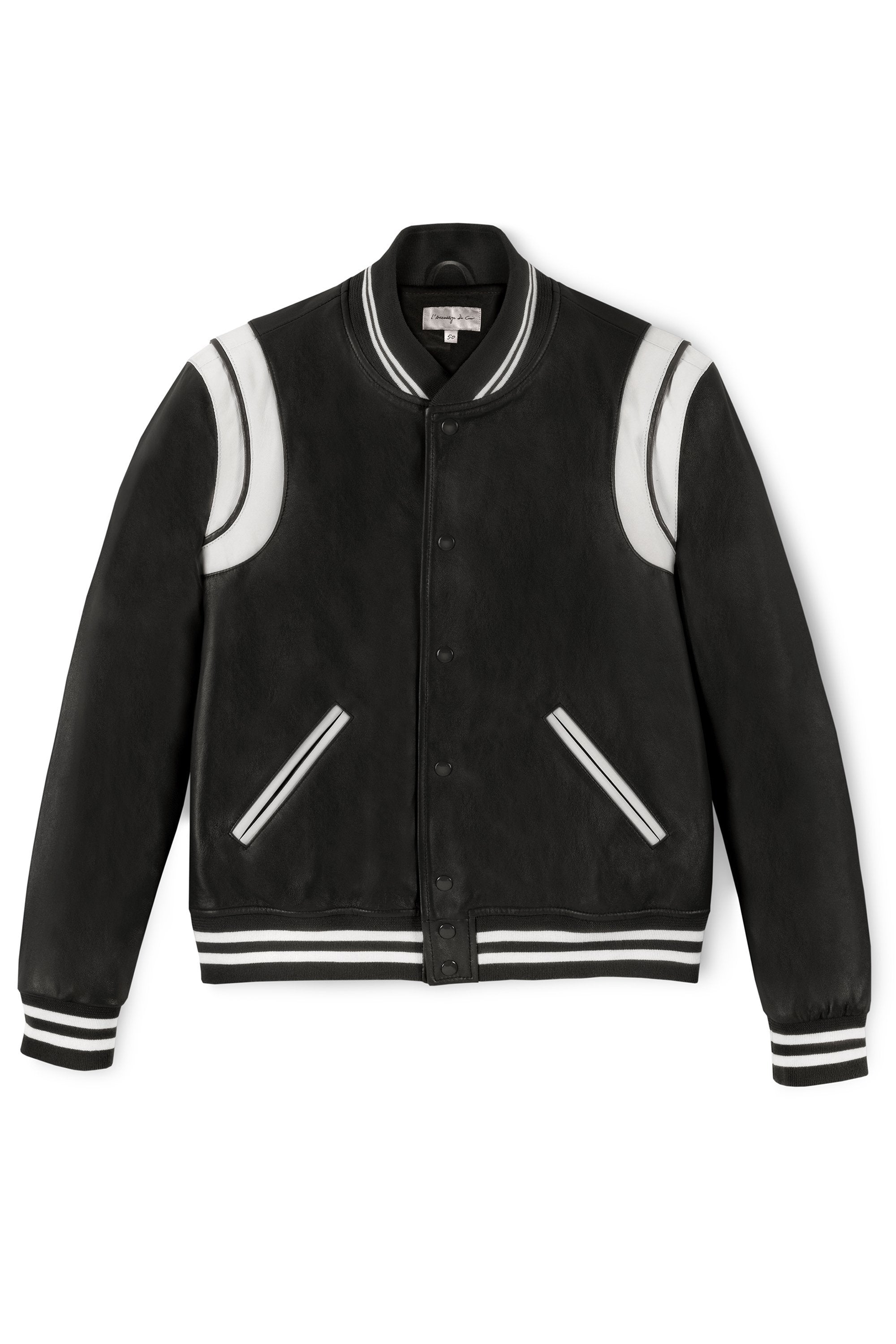 No 1 Varsity Black White The Assembly Of Leather Shop Now Lac