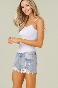 Playful Lace Shorts - Mayebelle Boutique