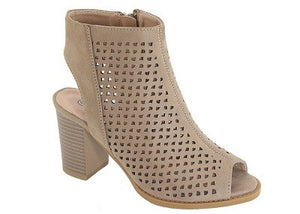 Captivating Cutout Booties - Mayebelle Boutique