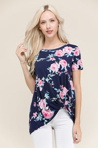 Floral Plus Top - Mayebelle Boutique