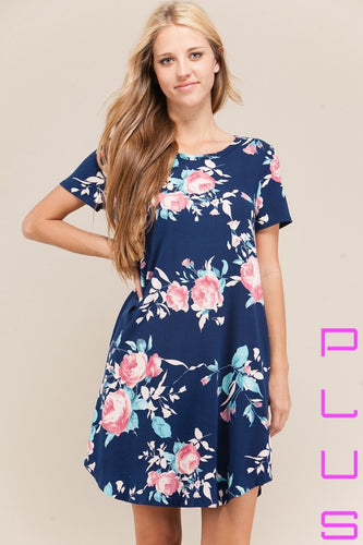 Spring Tunic Plus Dress - Mayebelle Boutique