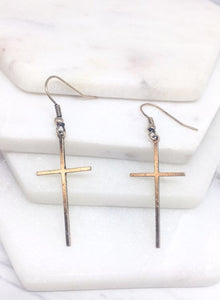 Beauty in the Cross Earrings - Mayebelle Boutique