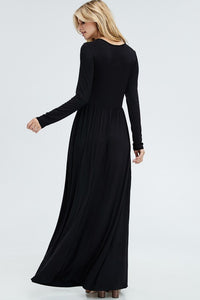 Winter Maxi Dress - Mayebelle Boutique