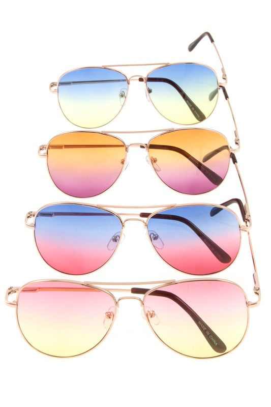 Summer Fun Aviator Sunglasses - Mayebelle Boutique