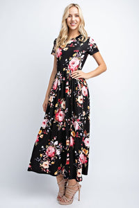 Roses Are Pink Maxi - Mayebelle Boutique