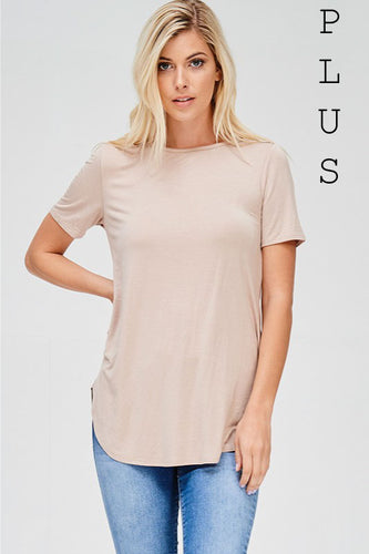 Natural Plus Tunic Top - Mayebelle Boutique