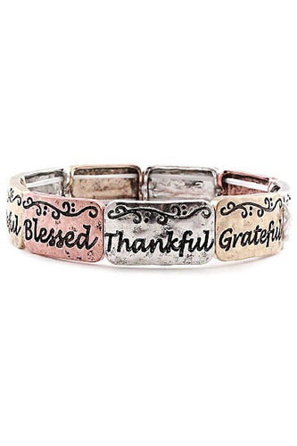 Thankfully Blessed Bracelet - Mayebelle Boutique