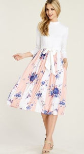 Hello Spring Midi Dress - Mayebelle Boutique