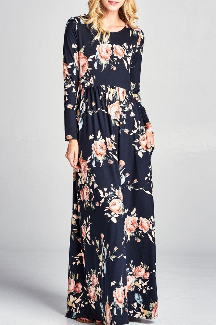 Beautiful Floral Maxi Dress - Mayebelle Boutique