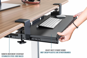 Clamp On Keyboard Tray For Desk