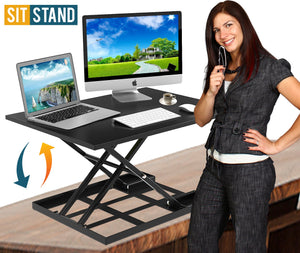 Defiance Pro 32' - Height Adjustable Standing Desk Converter