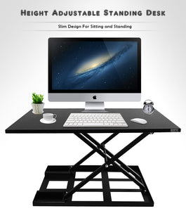Defiance Pro 32' - Height Adjustable Standing Desk Converter - Defy Desk