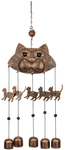 VP Home Cats Outdoor Garden Decor Wind Chime