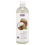 NOW Solutions, Liquid Coconut Oil, Light and Nourishing, Promotes Healthy-Looking Skin and Hair, 16 Fl Oz (Pack of 1)