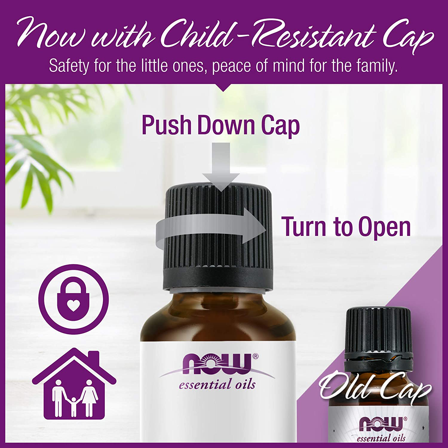 NOW Essential Oils, Lemon Oil, Cheerful Aromatherapy Scent, Cold Pressed, 100% Pure, Vegan, Child Resistant Cap, 4-Ounce