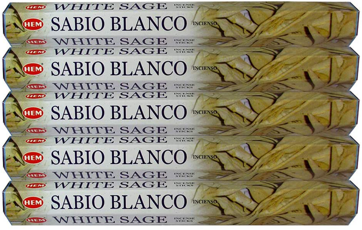 Hem White Sage 100 Incense Sticks (5 packs of 20 sticks)