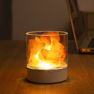 Natural Himalayan LED Light Salt Lamp Crystal Light  Air Purifier Mood Creator Indoor Warm Light Table Lamp Bedroom Lava Lamp