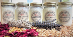 Red Barn Aromatherapy Candles | All-Natural Soy Wax & Dried Flowers | Essential Oil Infused | Odor Eliminating + Relaxation | Toxin Free