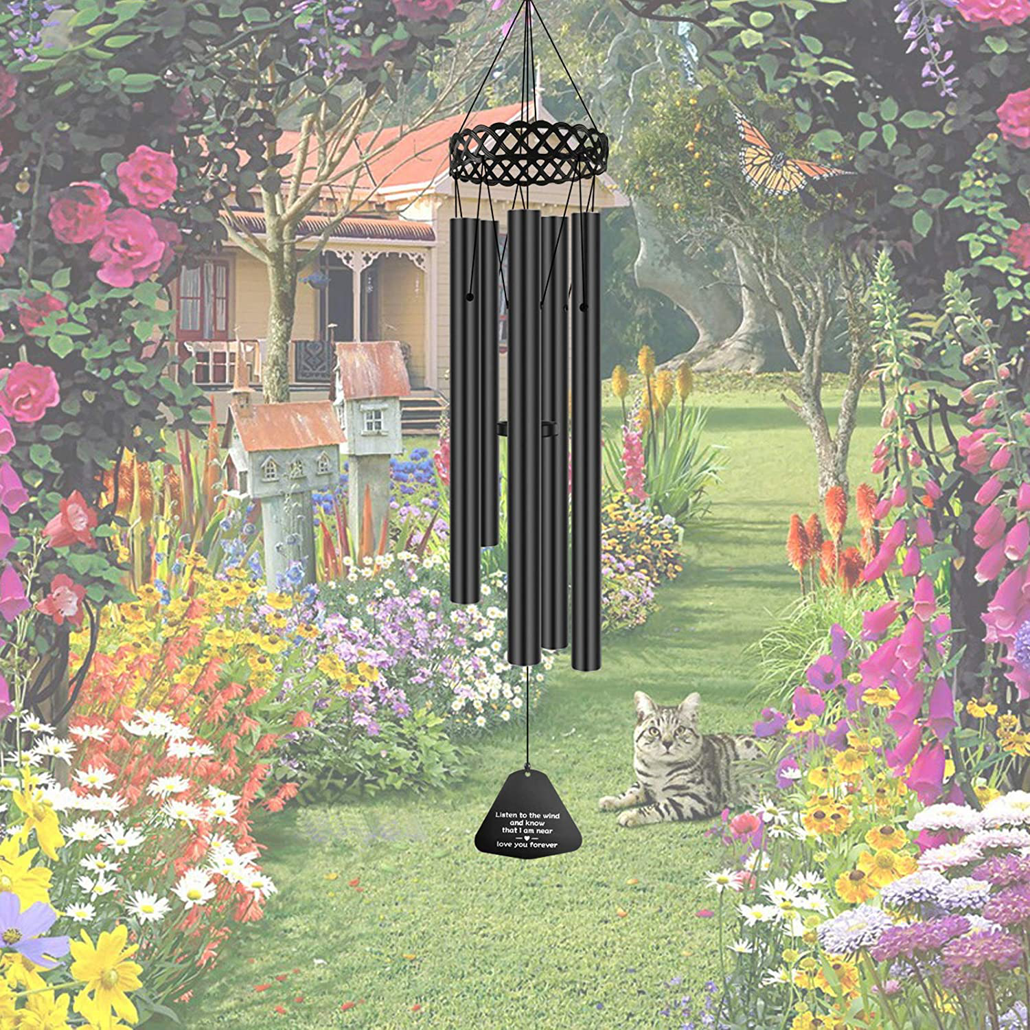 Memorial Wind Chimes for Outside Deep Tone,30' Windchimes Sympathy Gift Soothing Relaxing Melody, Metal Wind Chime for Mom ,Grandma, Pet, Loss of Loved One or Christmas Housewarming Decor Chime …