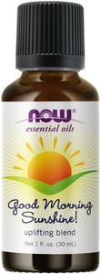 NOW Essential Oils, Good Morning Sunshine Aromatherapy Blend, Soothing Aromatherapy Scent, Blend of Pure Essential Oils, Vegan, Child Resistant Cap, 1-Ounce